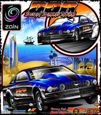 Saud Al Zabin Mustang Team Desert Demons Racing Kuwait Outlaw 10.5 Drag Racing T Shirts