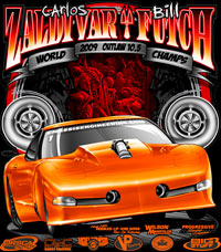 Carlos Zaldivar Outlaw 10.5 Twin Turbo Corvette Drag Racing T Shirts