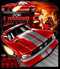 NEW !! Dom Luppino Outlaw 10.5 Mustang Drag Racing T Shirts