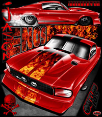 Jason Enos Outlaw 10.5 Turbo Mustang Drag Racing Shirts
