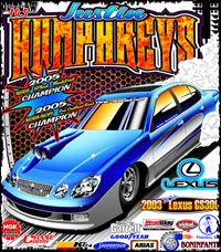 Justin Humphreys Twin Turbo Outlaw 10.5 Drag Racing T Shirts