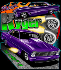 Mark Kyger Turbo Outlaw 10.5 Chevy II Drag Racing T Shirts