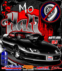 Mo Hall Nitrous Outlaw 10.5 Camaro Drag Racing T Shirts