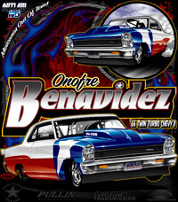 Onfre Benvavidez Outlaw 10.5 Drag Racing T Shirts