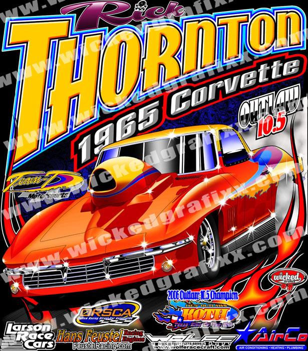 High Quality Rick Thornton Nitrous Outlaw 10.5 Drag Racing T Shirts