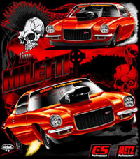 Tim Miletti Outlaw 10.5 Drag Racing T Shirts