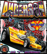 Brandon Anderson Competition Drag Racing T Shirts