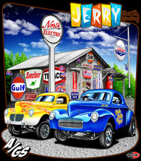 NEW!! Jerry North A/Gas Nostalgia Drag Racing T Shirts