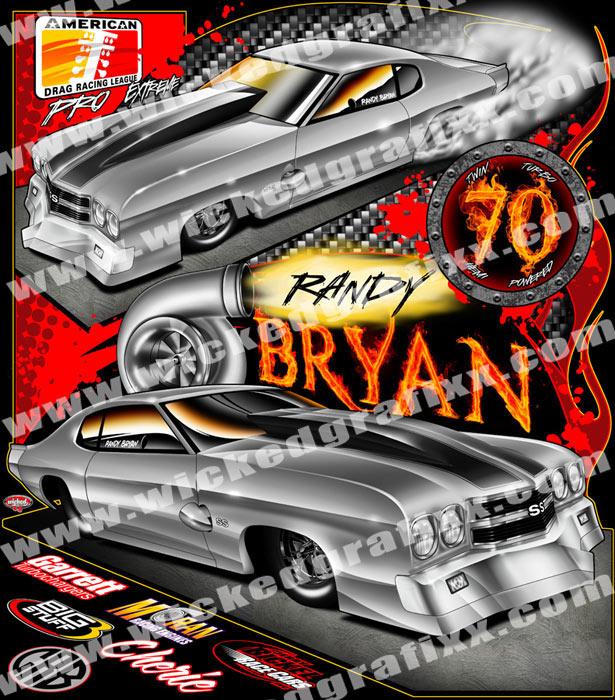 Randy Bryan ADRL Pro Extreme Twin Turbo Chevelle SS Pro