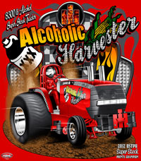 S Metzger Alcoholic Harvester Super Stock Tractor Pulling Champion T Shirts