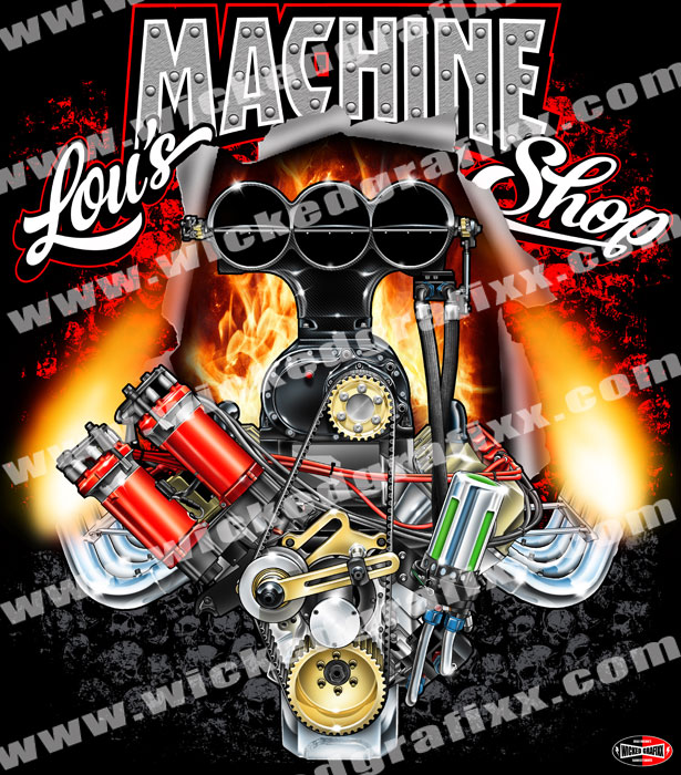 lous machine shop custom racing t shirts - Racing T Shirt Design Ideas
