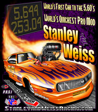 NEW !! Stanley & Weiss World's Quickest Pro Modified Camaro Returning Customer Drag Racing T Shirts