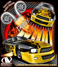 NEW !! Danny Lowry Turbocharged Mustang Pro Modified Drag Racing T Shirts