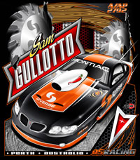 NEW!! Sam Gullotto Australian Pontiac Drag Racing T Shirts