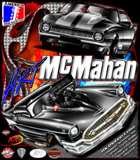 NEW Art McMahan 57 Chevy And Camaro Pro Modified Drag Racing T Shirts