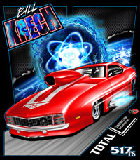 NEW !! Bill Krech Top Sportsman Camaro Drag Racing T Shirts