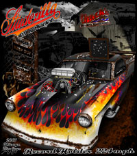 Chuck Weck Supercharged Studebaker Pro Mod Drag Racing T Shirts