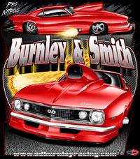 NEW !! Ed Burnley Pro Nitrous / Pro Modified Camaro Drag Racing T Shirts