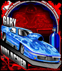 Gary Urlacher 63 Nitrous Corvette Pro Modified Drag Racing T Shirts