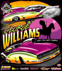 George Williams Nitrous Outlaw Camaro Pro Mod Drag Racing T Shirts