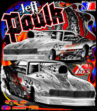 Jeff Paulk ADRL Extreme 10.5 Drag Racing T Shirts