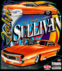John Sullivan Pro Modified Camaro Drag Racing T Shirts