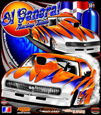 Jose Gonzales El General Pro Mod Drag Racing T Shirt