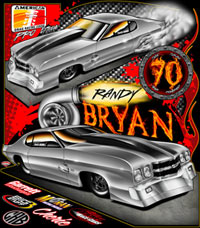 NEW Randy Bryan ADRL Pro Extreme Twin Turbo Chevelle SS Pro Mod Drag Racing T Shirts