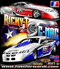 G Mac ADRL Extreme Ten Five Turbocharged Pro Mod Drag Racing T Shirts