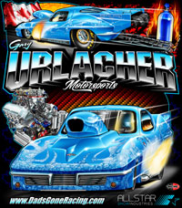 NEW !! Gary Urlacher Pro Nitrous Corvette Pro Modified Drag Racing T Shirts