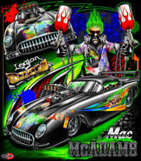 NEW!! Mac McAdams Pro Boost Pro Modified Supercharged Leigon Of Doom Corvette Drag Racing Custom T Shirts