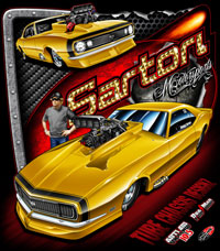 NEW!! Sartori Brothers Supercharged Pro Modified Camaro Drag Racing T Shirts