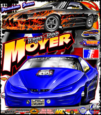 Todd Moyer ADRL XTF Corvette Drag Racing T Shirts