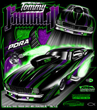 NEW !! Tommy Franklin 2014 PDRA Pro Nitrous Pro Modified Camaro REPEAT Returning Customer Drag Racing T Shirts