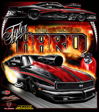 NEW !! Tyler Hard Outlaw Pro Nitrous Pro Modified Camaro Drag Racing T Shirts