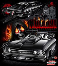 NEW !! Tylor Miller Pro Modified Carbon Fiber Chevelle Drag Racing T Shirts