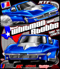 Whitman Stubbs 63 Corvette ADRL Extreme 10.5 Drag Racing T Shirts