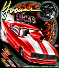 NEW!! Yvonne Lucas Returning Customer Pro Modified Camaro Drag Racing T Shirts