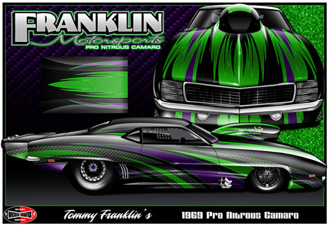 Tommy Franklin Pro Modified Camaro Rendering