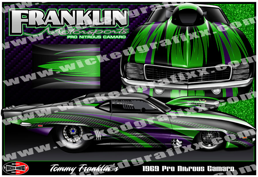 Drag Race Car Wrap Designs