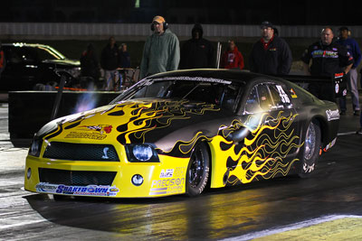 Danny Lowry Pro Extreme Mustang Rendering On The Track 2012 Raceway Park