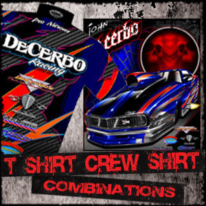 Complete Drag Racing T Shirt and Team / Crew Shirt Packages