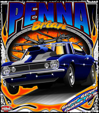 Brian Penna Outlaw 10.5 Camaro Drag Racing T Shirts