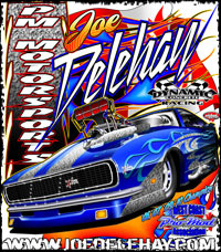Joe Delahey West Coast Supercharged Camaro Pro Mod Drag Racing T Shirts