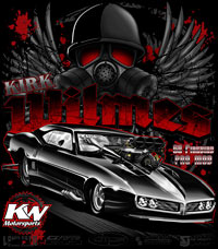 Kirk Wilmes Supercharged Pontiac Firebird Pro Modified Drag Racing T Shirts