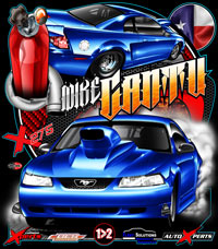 NEW !! Mike Cantu Outlaw Drag Radial Racing T Shirts