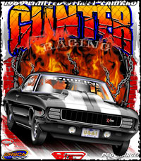 Gunter Racing Outlaw Limited Street Racing T Shirts