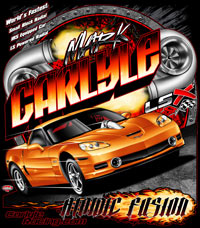 NEW!! Mark Carlyle LXS Shootout Corvette Drag Racing T Shirts