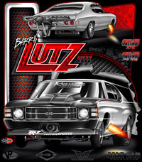 NEW !! Barry Lutz Outlaw Drag Radial 275 Chevelle Drag Racing T Shirts