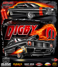 NEW !! Jason Digby Outlaw - 275 Drag Radial Dodge Dart Drag Racing T Shirts